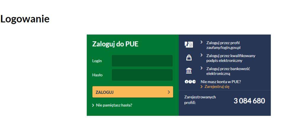 ZUS PUE